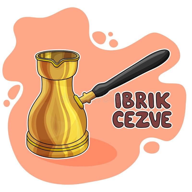 Ibrik Cezve例证 免版税库存图片