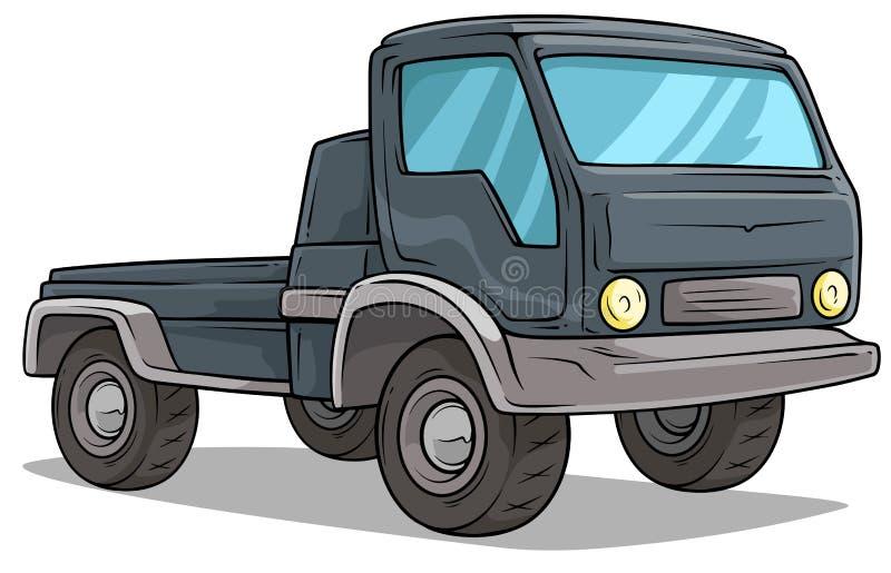 Icône à bord de vecteur de camion de cargaison de la livraison de bande dessinée illustration libre de droits