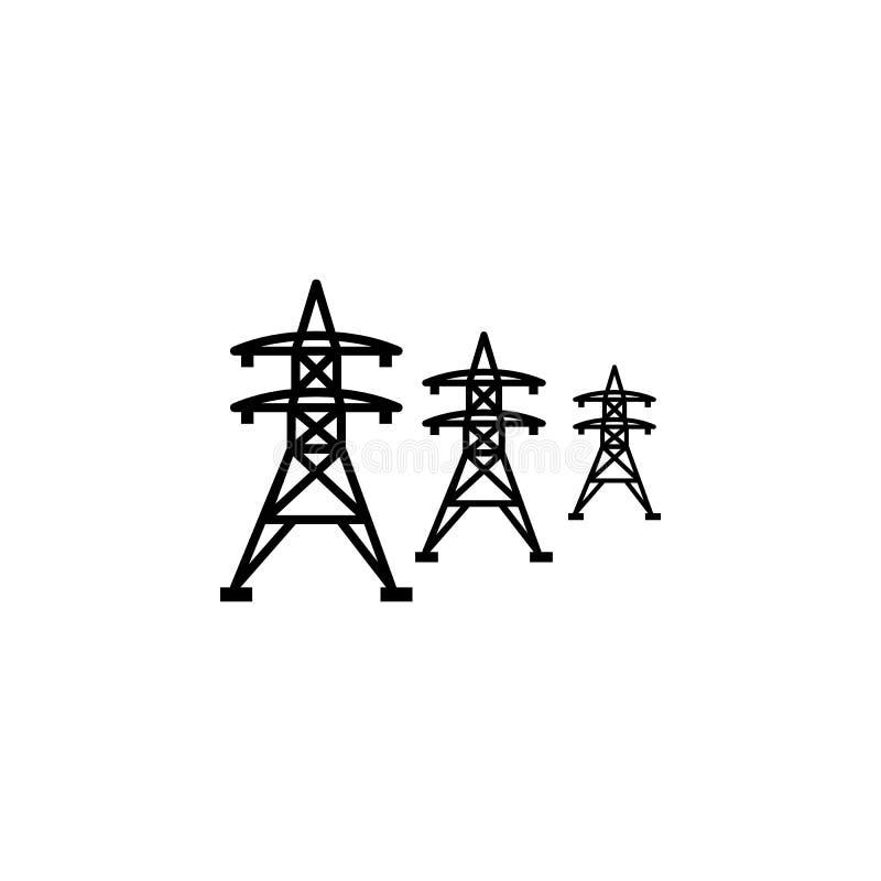 Icône à haute tension de lignes électriques illustration libre de droits
