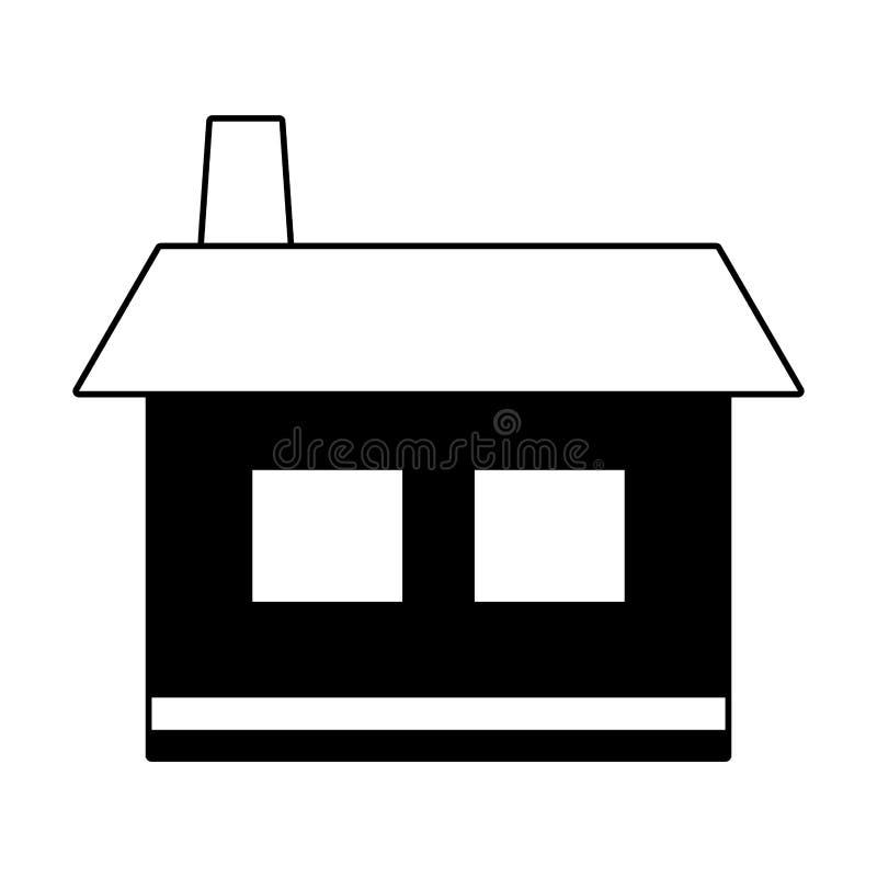 Icône à la maison de Chambre illustration libre de droits