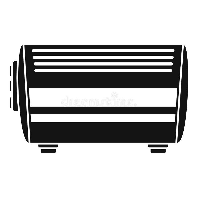 Icône à la maison de convecteur, style simple illustration de vecteur