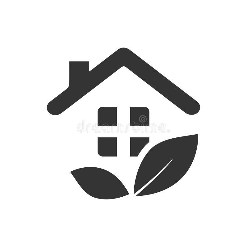 Icône à la maison de plantation illustration stock
