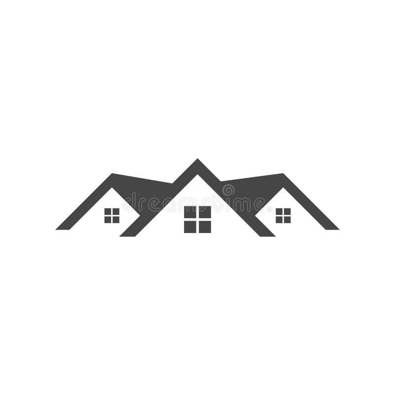 Icône à la maison de toit illustration libre de droits