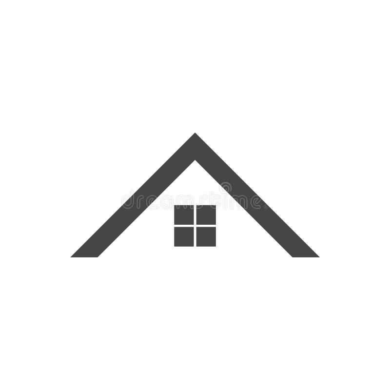 Icône à la maison de toit illustration stock