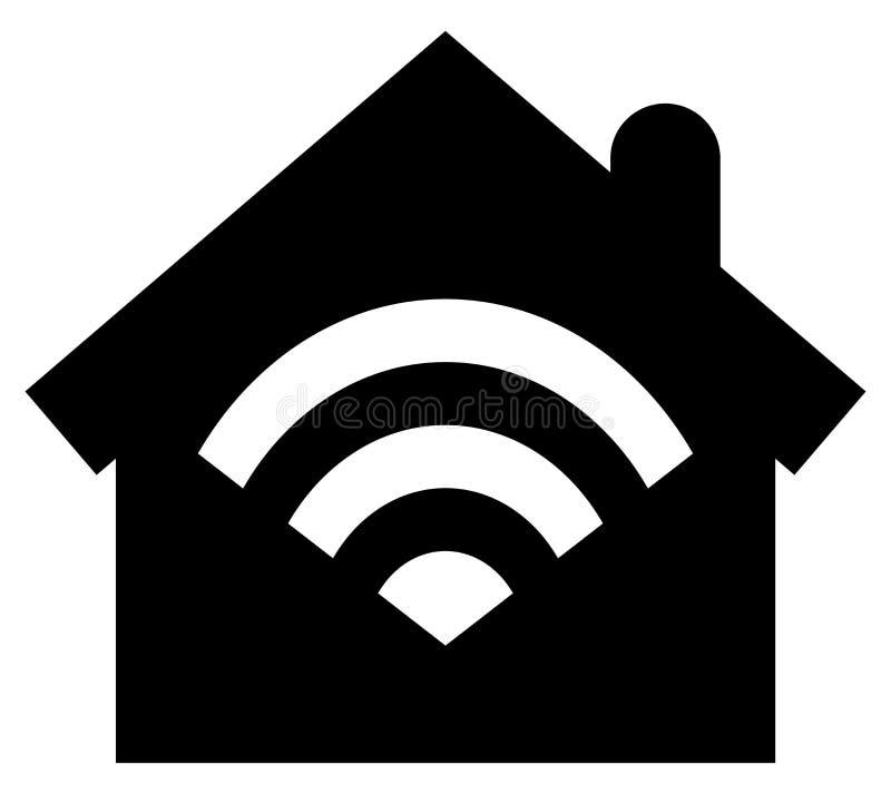 Icône à la maison futée illustration libre de droits