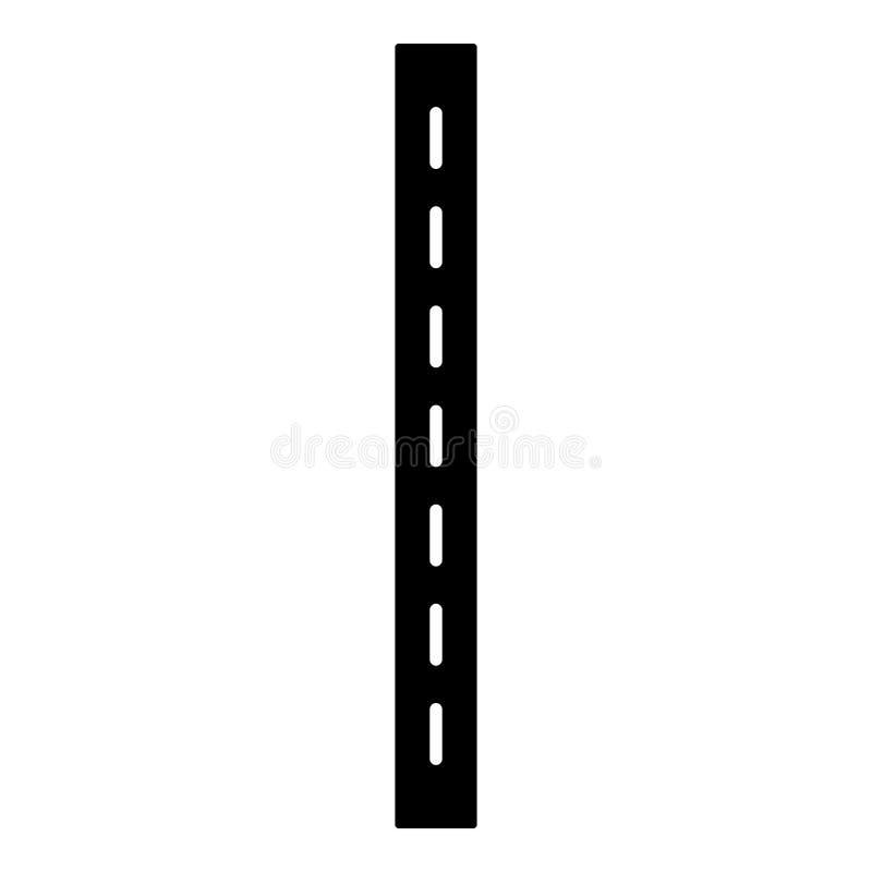Icône à voie unique de route, style simple illustration de vecteur