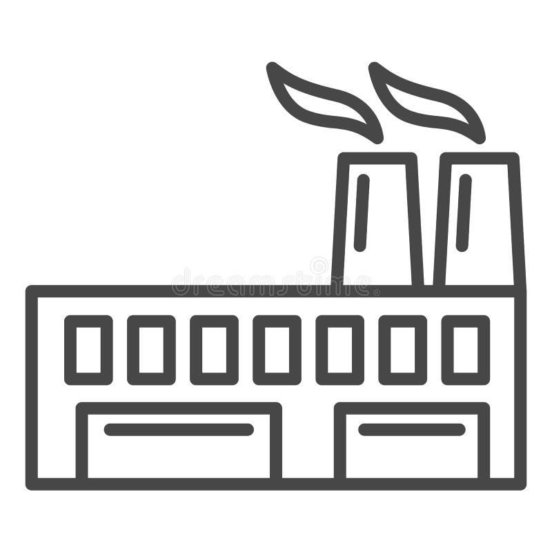 Icône écologique d'usine, style d'ensemble illustration libre de droits