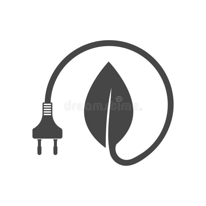 Icône économiseuse d'énergie illustration libre de droits