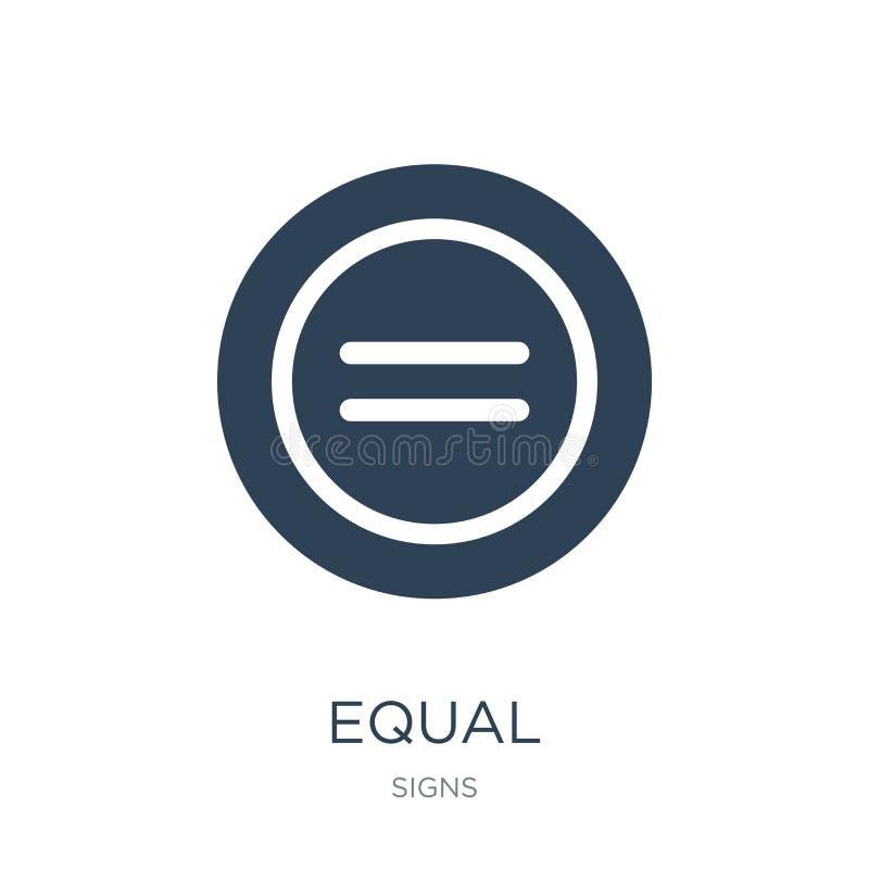 icône égale dans le style à la mode de conception icône égale d'isolement sur le fond blanc symbole plat simple et moderne d'icôn illustration libre de droits