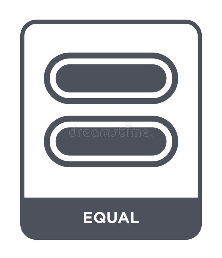 icône égale dans le style à la mode de conception icône égale d'isolement sur le fond blanc symbole plat simple et moderne d'icôn illustration stock