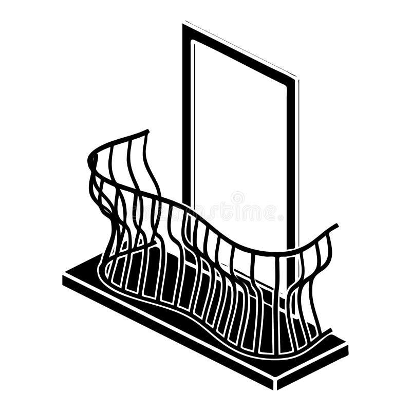 Icône élégante de balcon, style simple illustration de vecteur