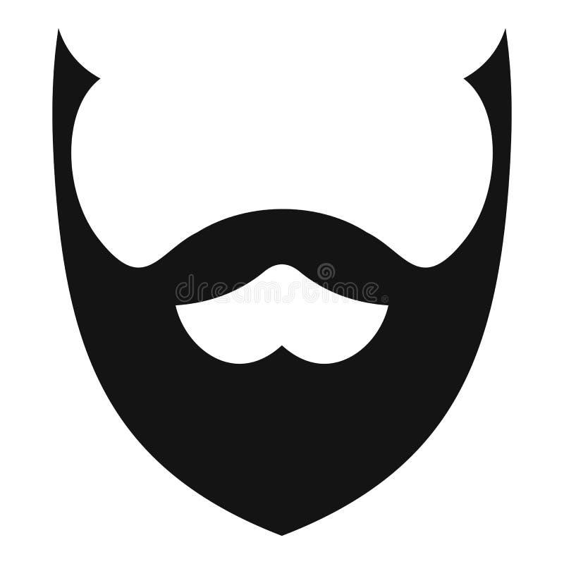 Icône élégante de barbe, style simple illustration de vecteur