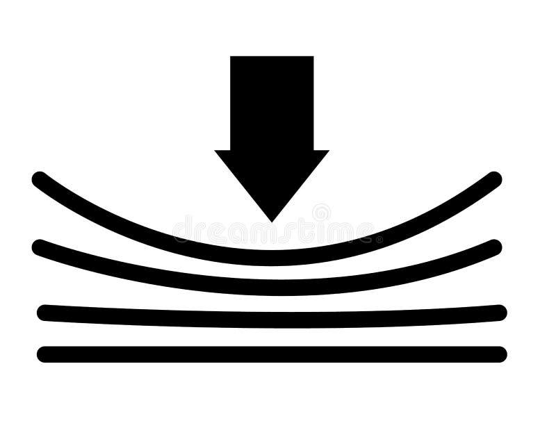 Icône élastique avec l'ombre sur le fond blanc Style plat illustration libre de droits