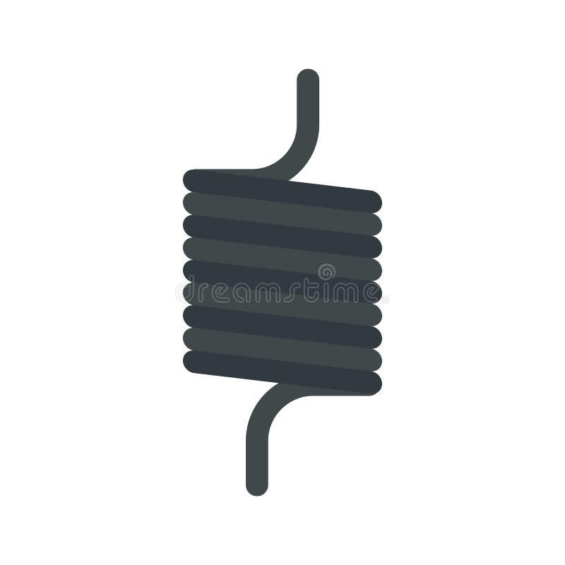 Icône élastique de fil de ressort, style plat illustration stock