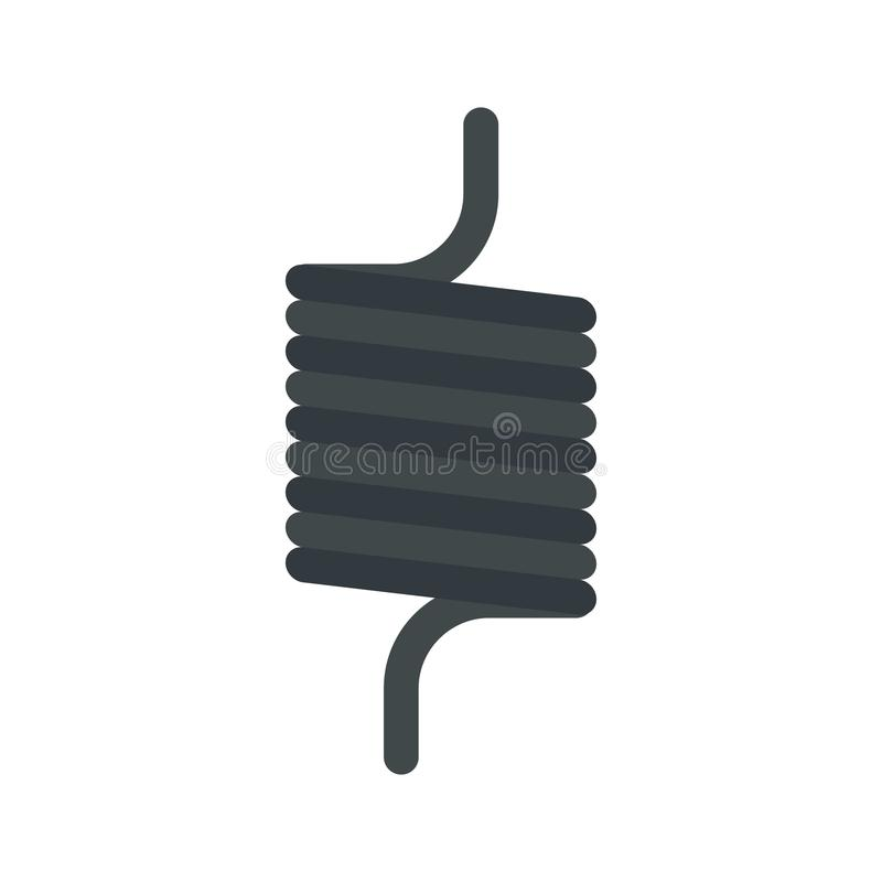 Icône élastique de fil de ressort, style plat illustration de vecteur