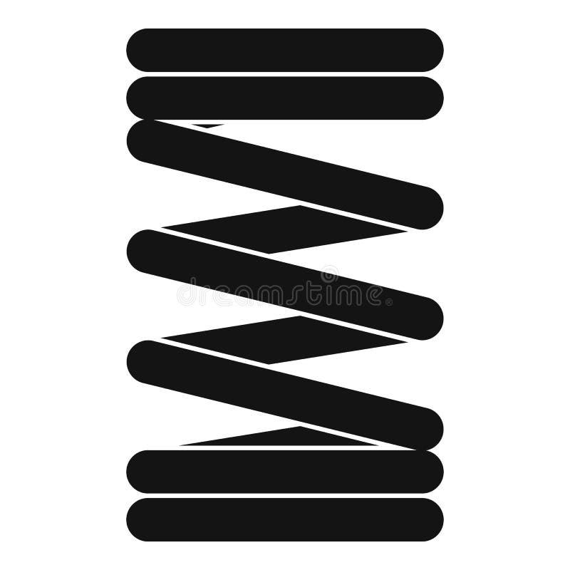 Icône élastique de fil de ressort, style simple illustration libre de droits