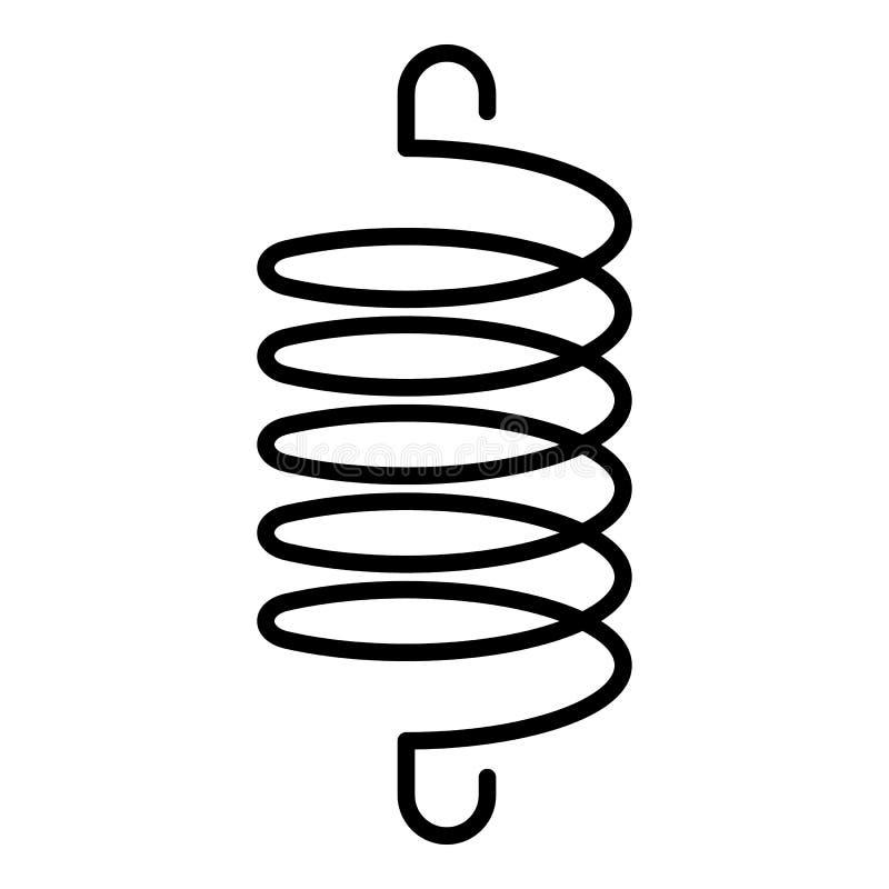 Icône élastique en spirale de bobine, style d'ensemble illustration stock
