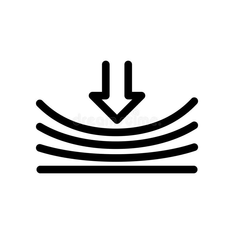 Icône élastique, illustration de vecteur illustration stock