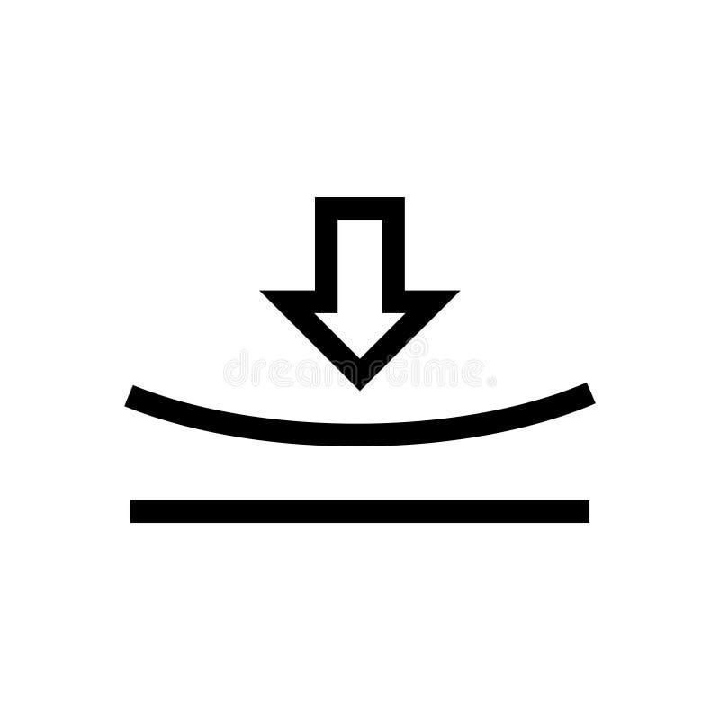 Icône élastique, illustration de vecteur illustration libre de droits