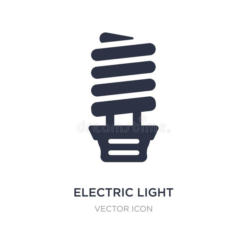 Icône électrique d'ampoule sur le fond blanc Illustration simple d'élément de concept de technologie illustration stock