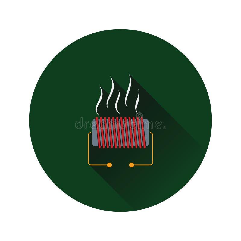 Icône électrique d'appareil de chauffage illustration stock
