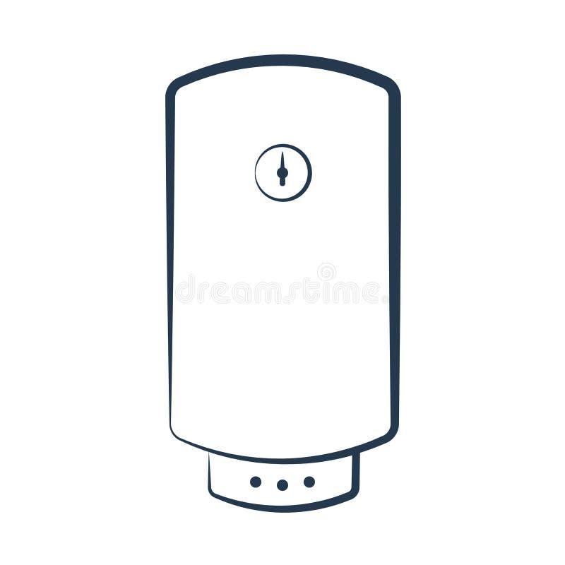 Icône électrique de chauffe-eau illustration de vecteur