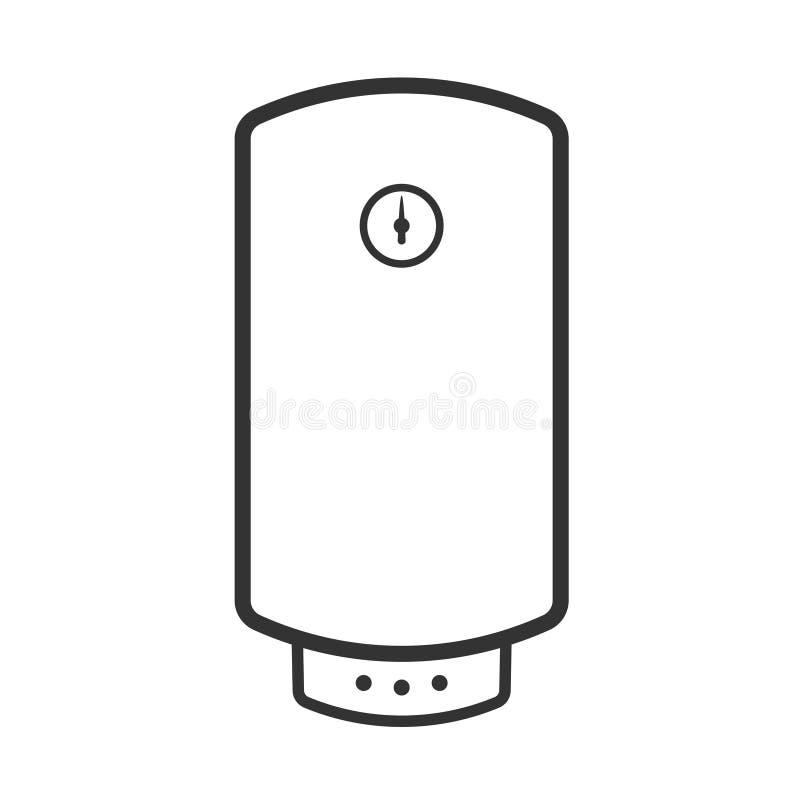 Icône électrique de chauffe-eau illustration libre de droits