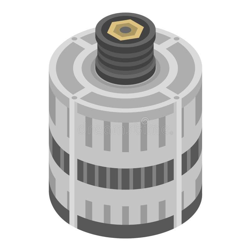 Icône électrique de générateur de voiture, style isométrique illustration stock