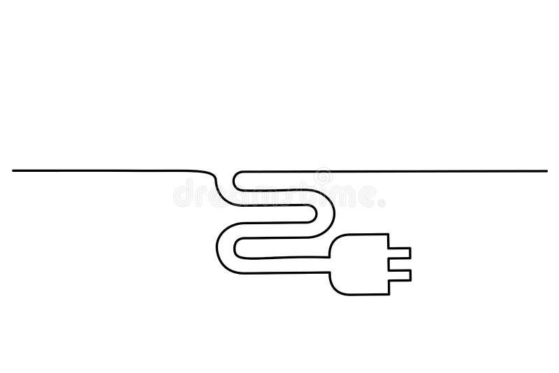 Icône électrique de prise sur le fond blanc illustration stock