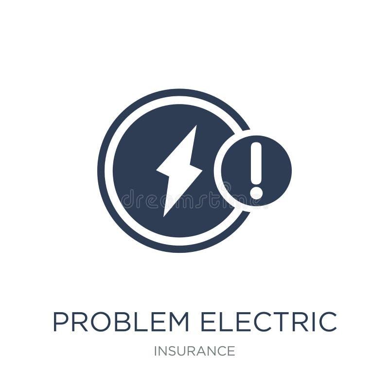 Icône électrique de problème Icône électrique de problème plat à la mode de vecteur illustration de vecteur