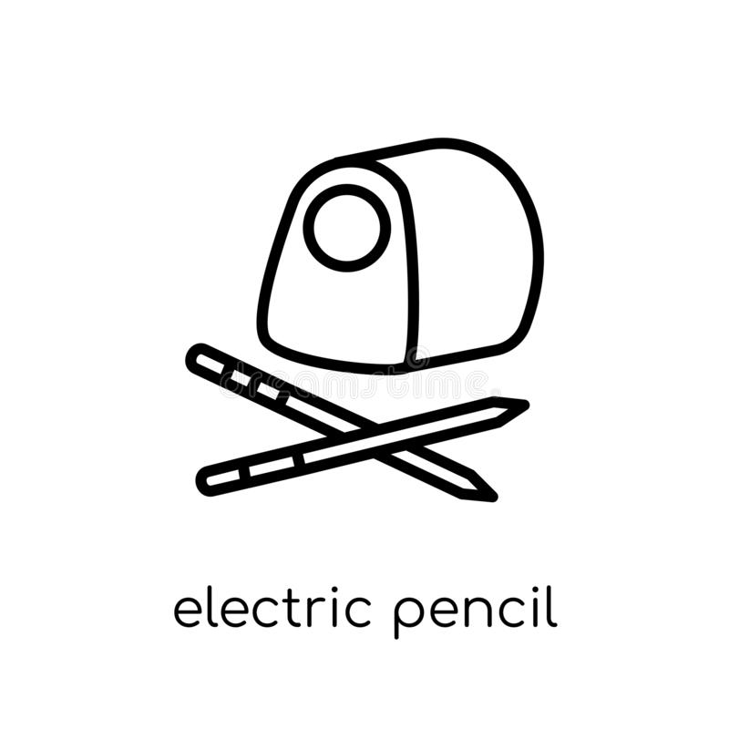 icône électrique de taille-crayons  illustration libre de droits