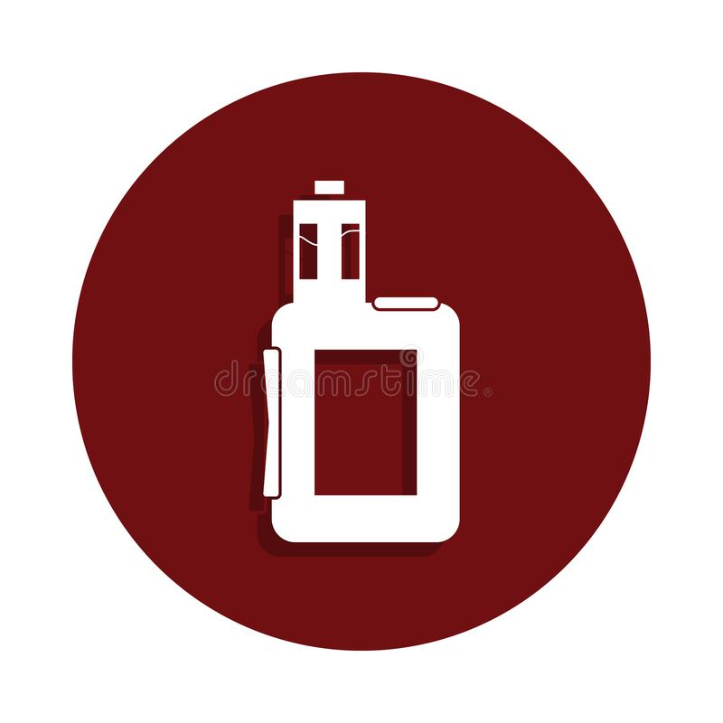 icône électronique de cigarettes dans le style d'insigne de glyph Un de la mauvaise icône de collection de habbits peut être empl illustration stock