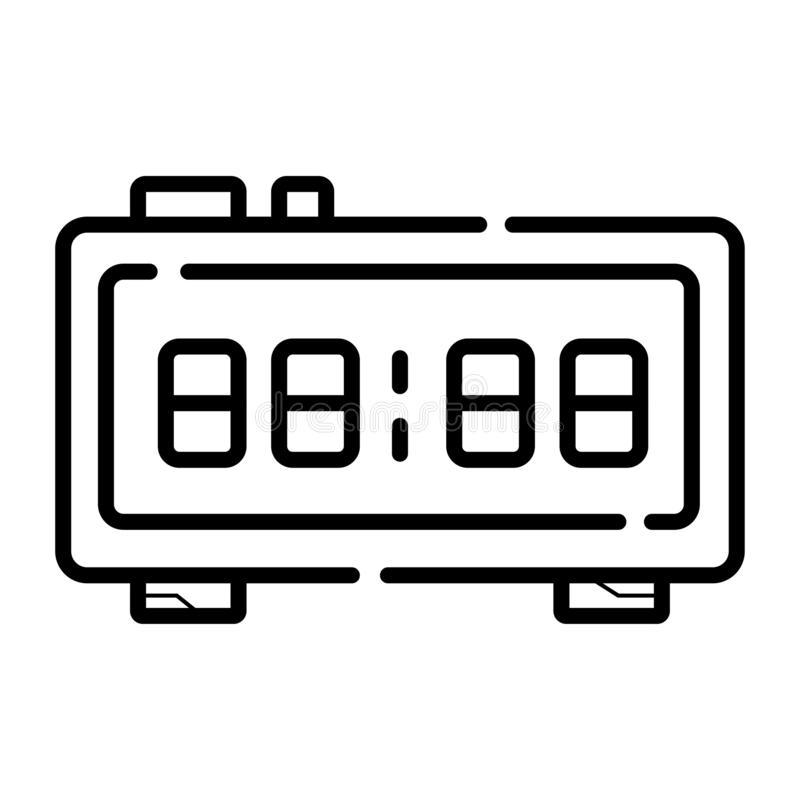Icône électronique de réveil illustration stock