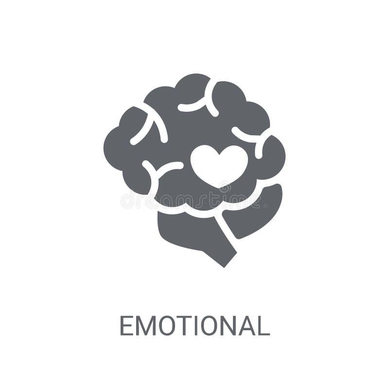 Icône émotive d'intelligence Logo émotif à la mode d'intelligence illustration libre de droits