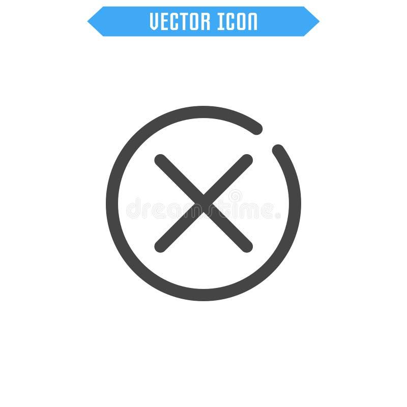 icône étroite Icône de suppression illustration libre de droits