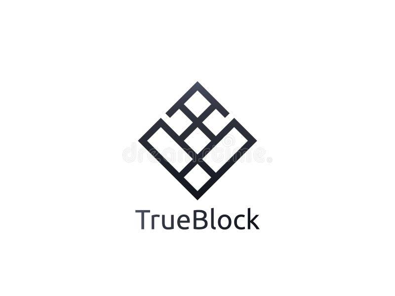 icône abstraite de logo de la lettre V d'alphabet signe de bloc de mur de carrelage illustration libre de droits