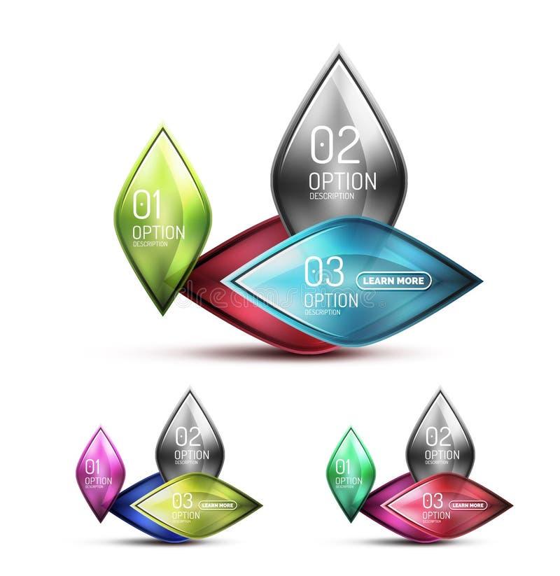 Icône abstraite en verre mate réaliste pour le message illustration libre de droits