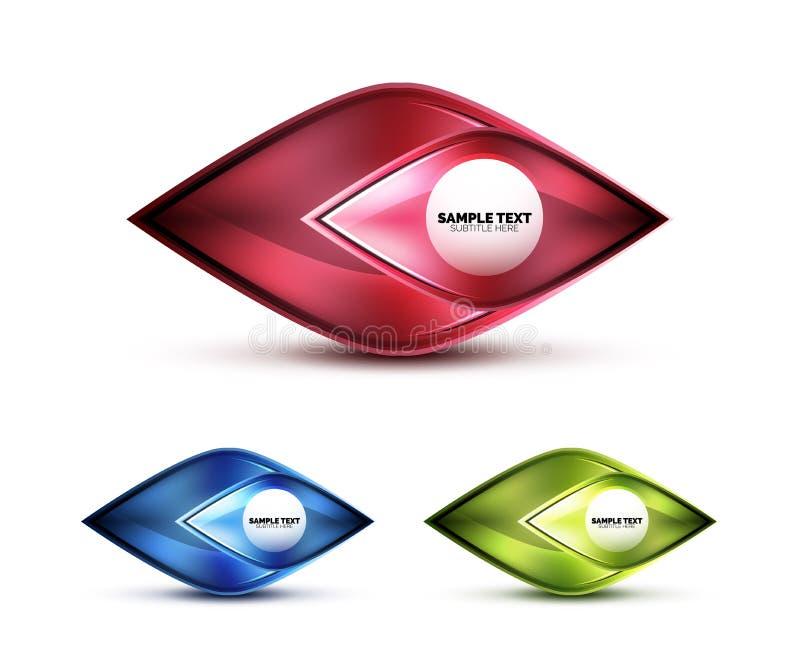 Icône abstraite en verre mate réaliste pour le message illustration stock