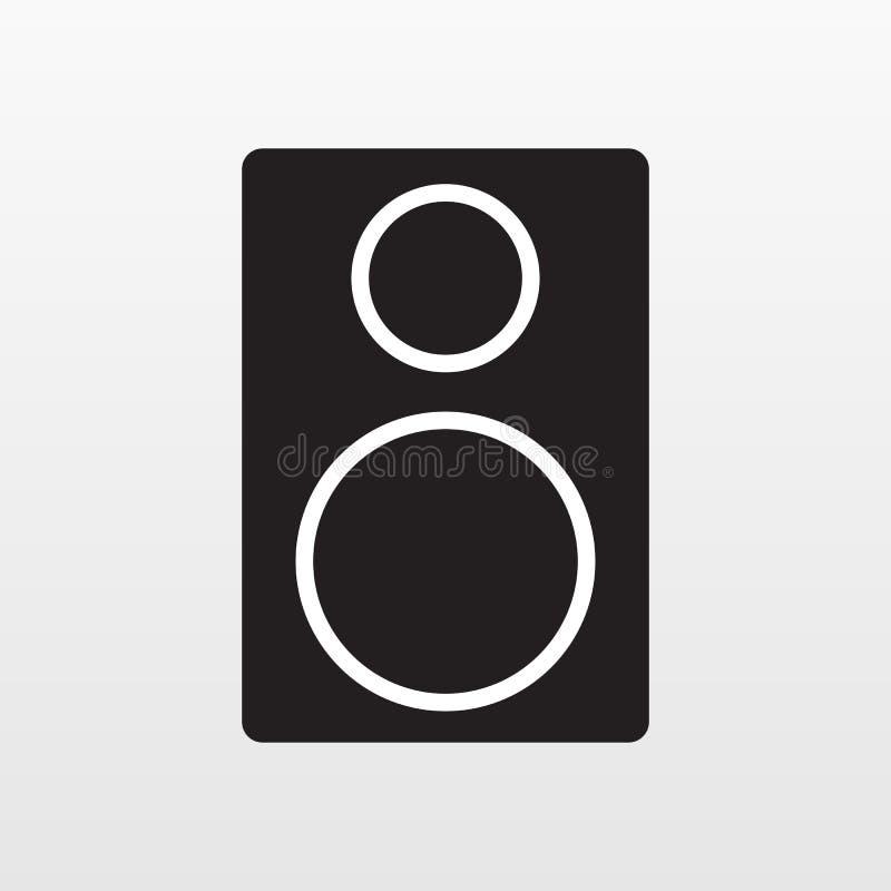 Icône acoustique audio d'appareil d'isolement sur le fond Signe plat simple moderne Affaires, Internet Co illustration de vecteur