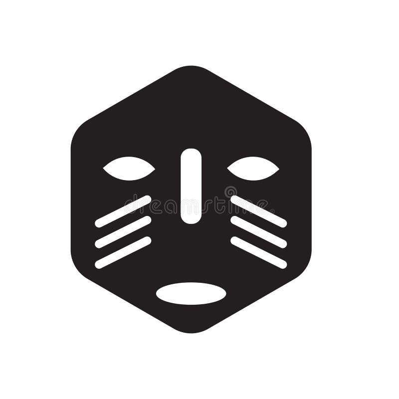 Icône africaine de masque  illustration de vecteur