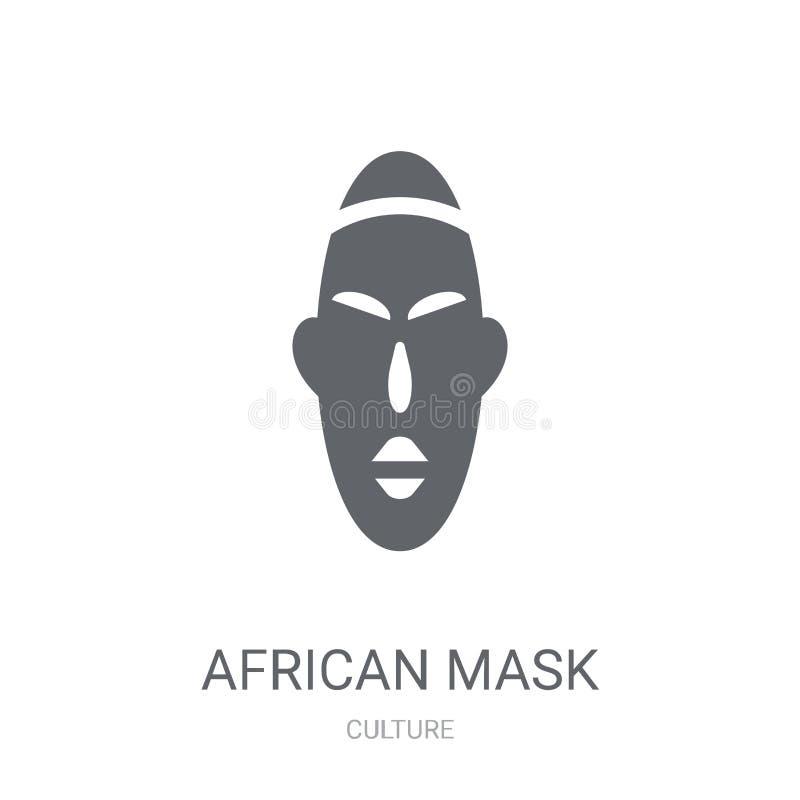 Icône africaine de masque  illustration stock