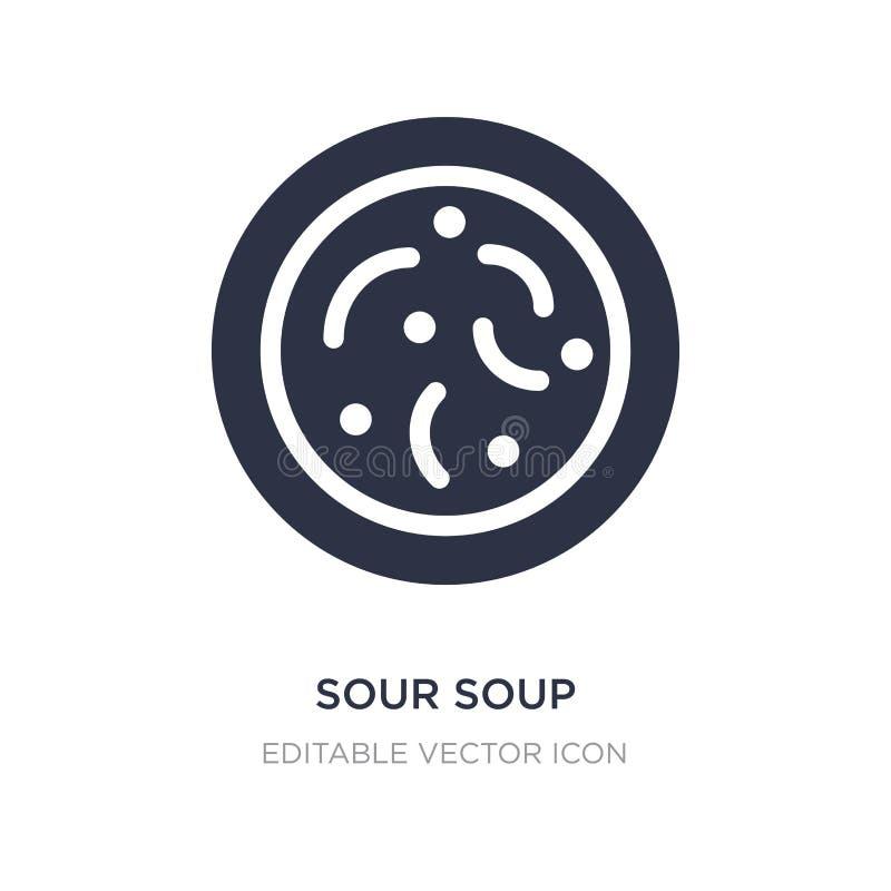 icône aigre de soupe sur le fond blanc Illustration simple d'élément de nourriture et de concept de restaurant illustration de vecteur