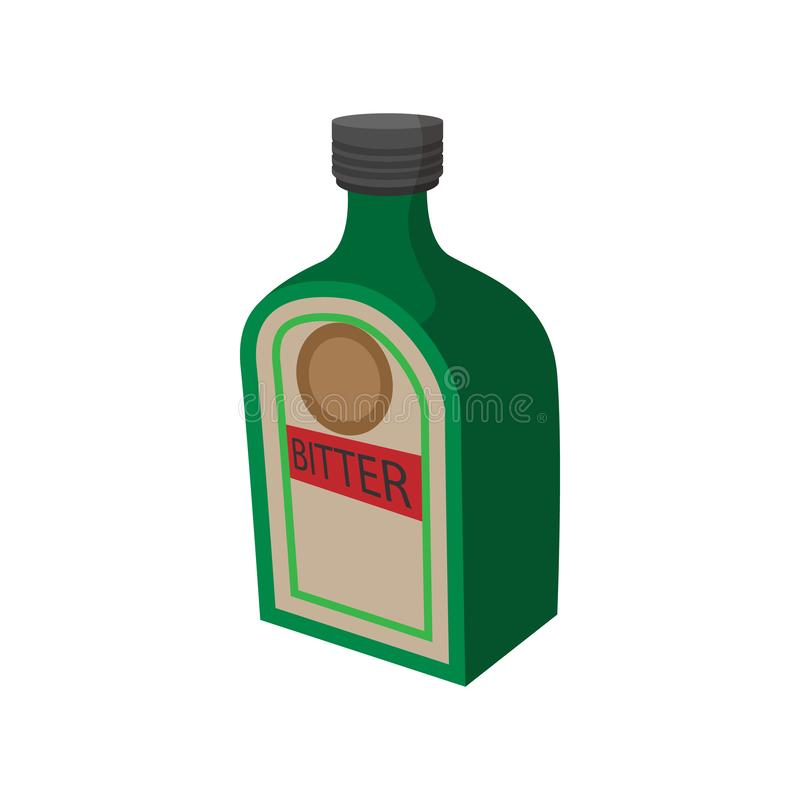 Icône allemande de boissons d'alcool, style de bande dessinée illustration libre de droits