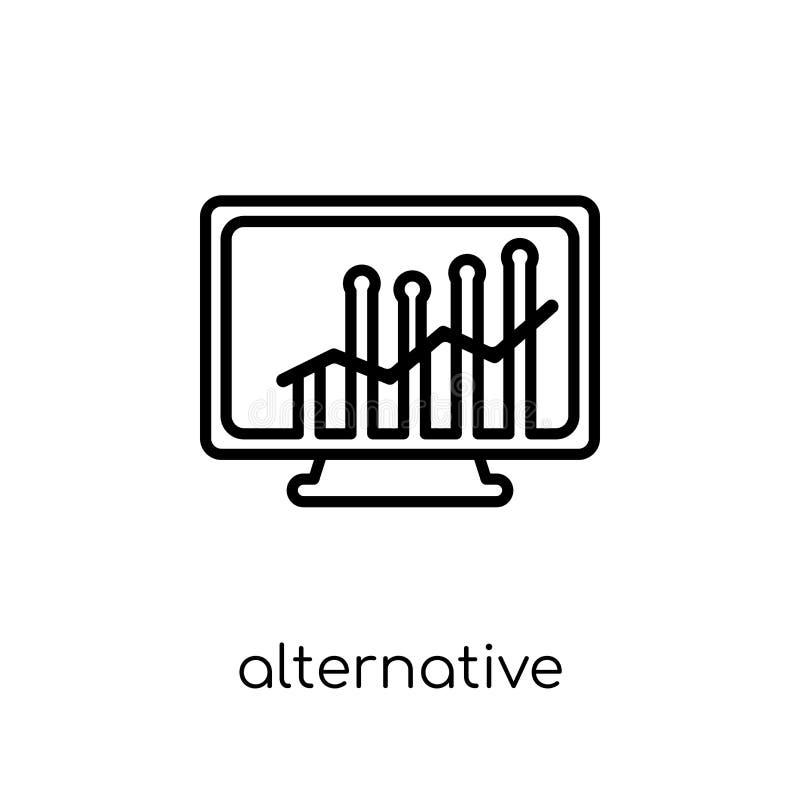 Icône alternative du marché de capitaux de l'investissement alternatif m illustration de vecteur
