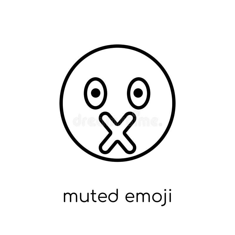 Icône amortie d'emoji de collection d'Emoji illustration stock