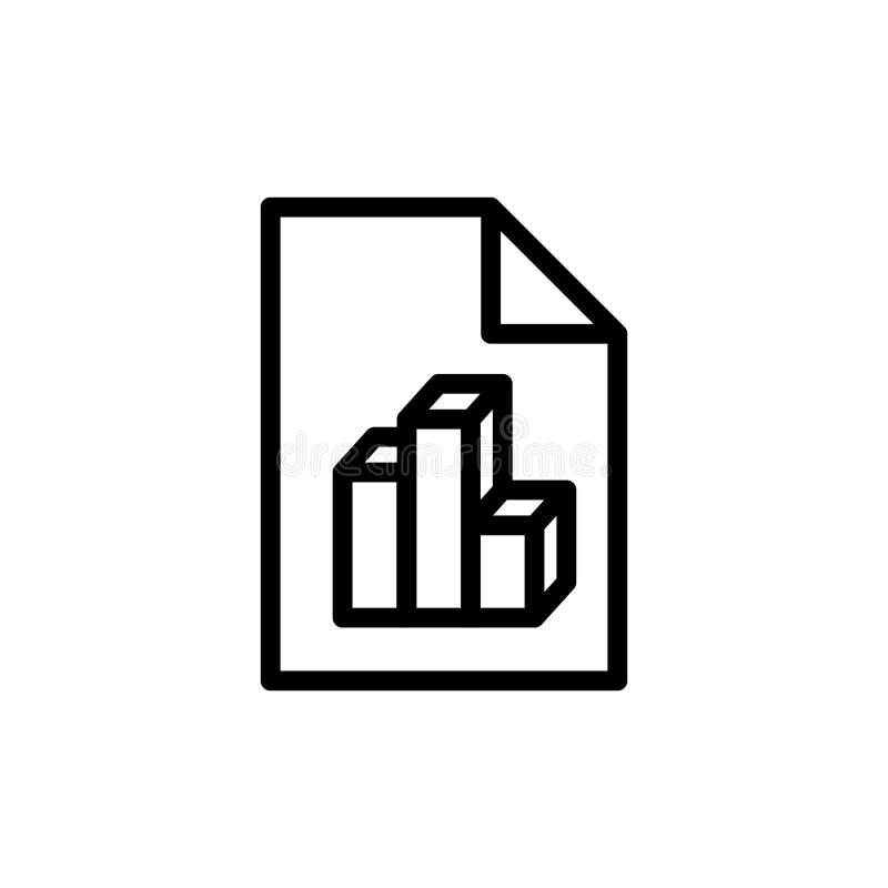 Icône analytique de document illustration libre de droits