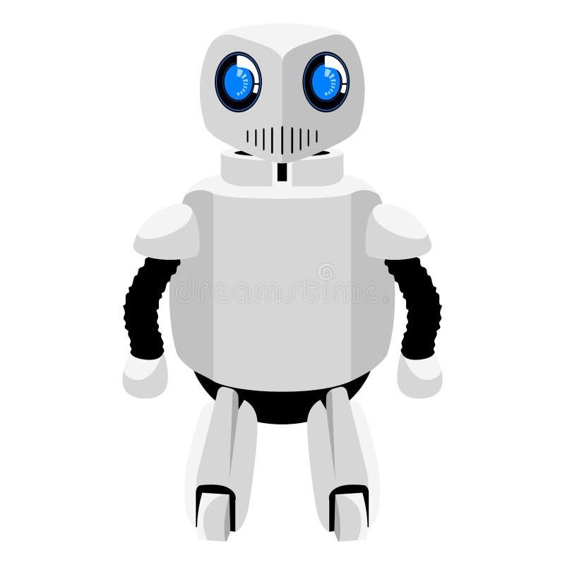 Icône androïde mignonne d'isolement illustration stock