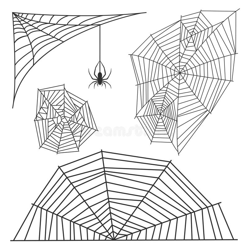 Icône animale effrayante plate graphique de vecteur d'horreur de danger d'insecte de nature de conception de crainte d'arachnide  illustration stock