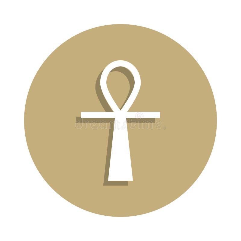 Icône antique de signe d'Ankh d'Egyptien dans le style d'insigne Un de l'icône de collection de symbole de religion peut être emp illustration libre de droits