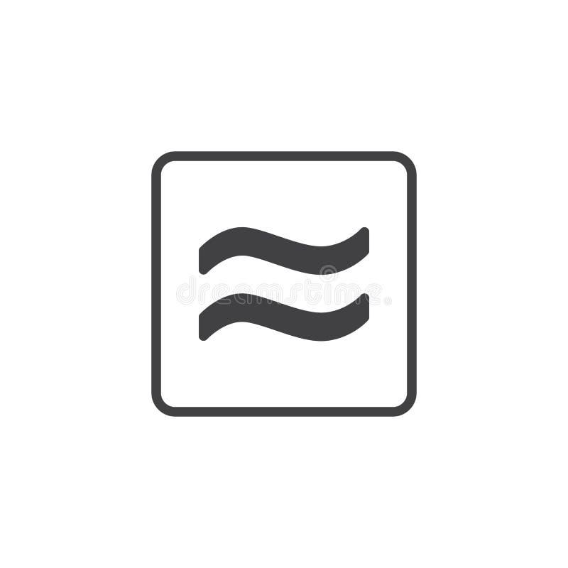 Icône approximativement égale de vecteur illustration libre de droits